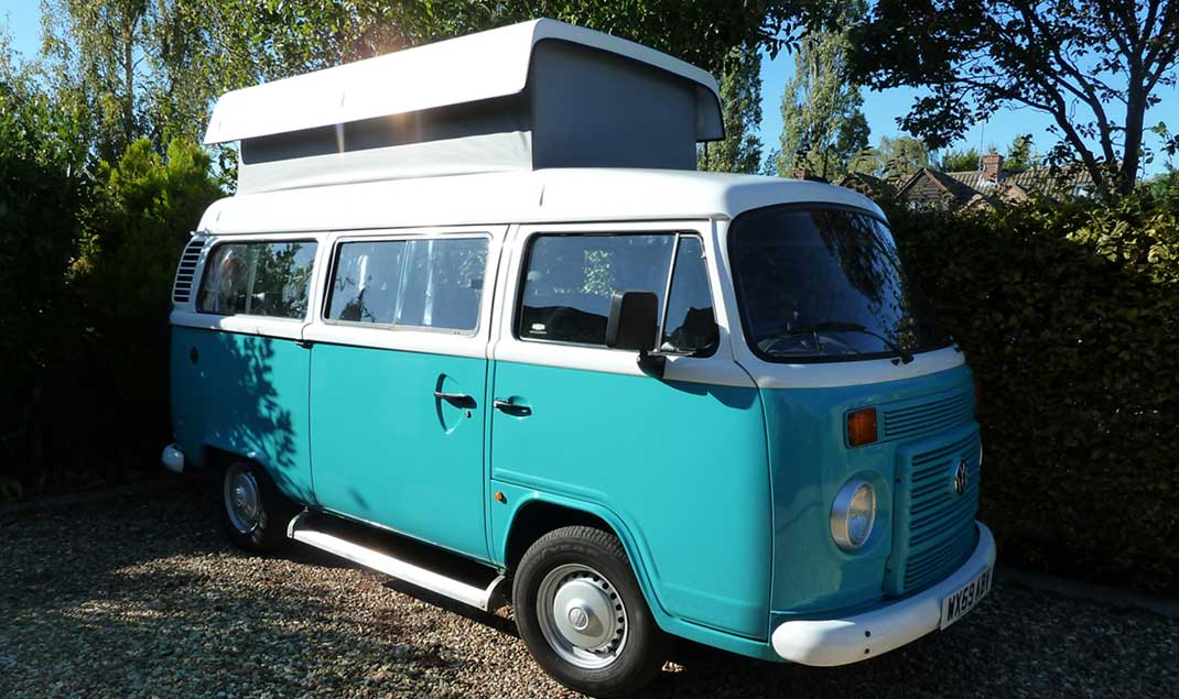 VW campervan hire UK, Midlands