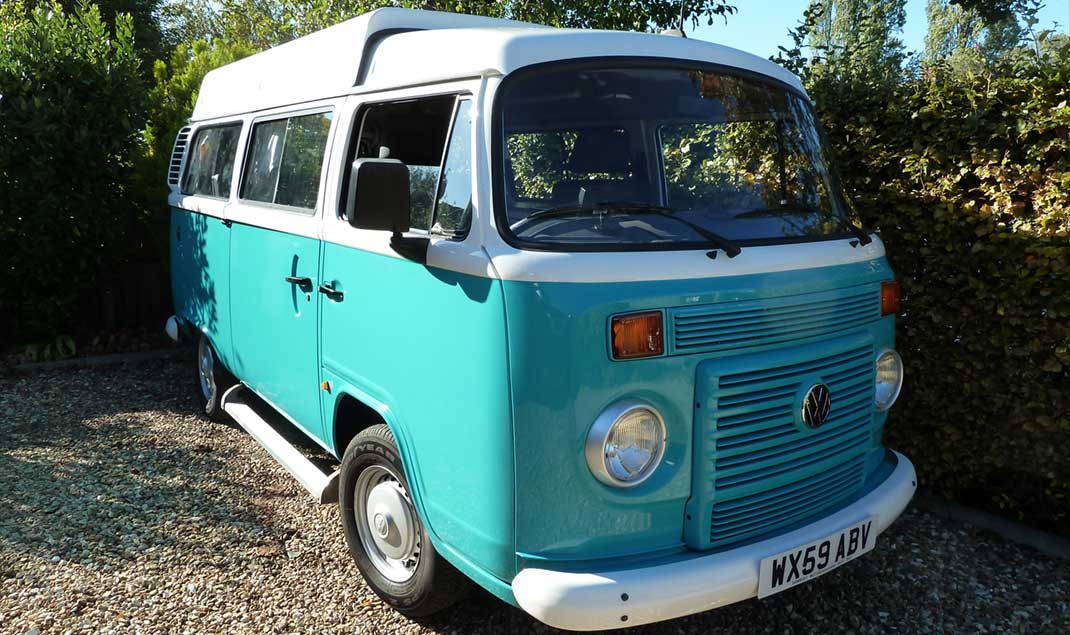 The iconic VW campervan for the classic road trip experience